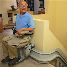 bruno CRE-2110 custom curved stair lifts phoenix az scottsdale sun city tempe mesa are glendale chandler peoria gilbert chandler surprise 