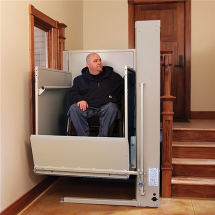 San Francisco Stair Lifts, Bruno Residential Vertical Platform Lift VPL3100 Wheelchair PorchLift