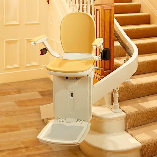San Francisco Stair Lifts, Acorn 180 Curved Residential Indoor